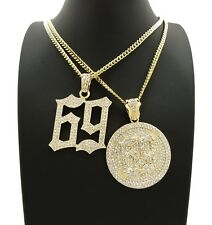 """NEW ICED OUT 69 PIECES WITH 3mm 18"""" & 20"""" CUBAN CHAINS"""