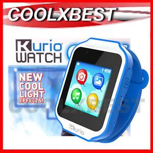 LATEST KURIO GLOW SMART WATCH For KIDS BLUETOOTH APPS MSG PHOTO VIDEO BLUE