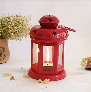 Lantern Decoration with Tealight Candle Holder (Red Color)-Free Ship