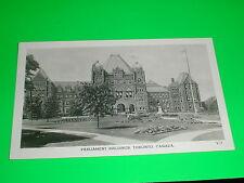 Parliament Buildings B & W, Toronto Ontario Canada Postcard