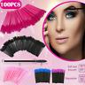 100* Disposable Lash Eyelash Micro Brush Mascara Wands Applicator Makeup Tool