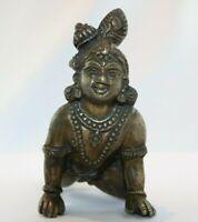 10 CM STATUE en BRONZE INDE ASIE SHIVA CHILD déesse divinité DIEU SHIVA CHILD