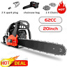 "NEW COOCHEER 62CC 20"" Gas Chainsaw 2 Cycle Handed Petrol Chain Woodcutting USA[]"
