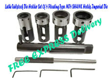 Lathe Tailstock Die Holder Set Of 4 Floating Type MT4 SHANK Holds Imperial Die