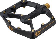 Crank Brothers Stamp 11 MTB Mountain Bike Platform Pedals Titanium Black Large