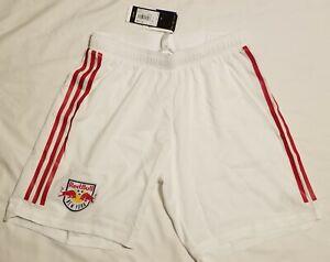 $55 NWT Adidas New York Red Bulls MLS Soccer Shorts White Climalite Men MEDIUM M