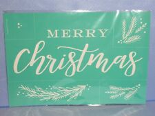 Chalk Couture MERRY CHRISTMAS Transfer NEW branches wreath builder