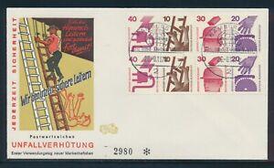 Deutschland Ersttagsbrief MH-Blatt 25 Unfallverhütung 1974 aus MH 20 Sonderstpl.