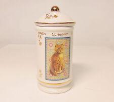 Lenox Cats of Distinction Coriander Spice Jar & Sealed Lid Porcelain & 24k Gold!