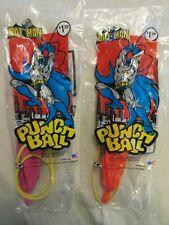 Lot of (2) 1989 Batman Punch Ball NIP / Box 213