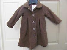 Baby Gap girl 18-24 months coat, brown fleece,collar, 5 button closure, winter