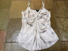 WITCHERY 100% SILK pattern Knot feature top 12 - 14 or L