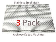 Archwayway Doner Kebab Machine Burner Mesh Heavy Duty Stainless Steel Pack of 3