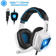Cool Spirit Wolf 7.1 Surround Stereo Sound USB Gaming Headset With Microphone