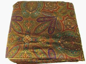 Ralph Lauren GLADWYNE OCHRE Egyptian Cotton Floral Comforter Duvet Cover - Twin