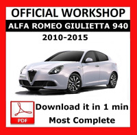 ITALIAN OFFICIAL WORKSHOP Manual Service Alfa Romeo Giulietta 940 2010 - 2015
