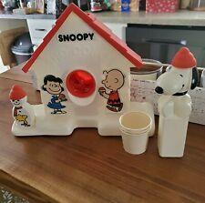 Original Snoopy Sno-Cone Machine Ice Maker Sababa Toys 2007 Snow Peanuts