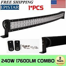 """Curved 42inch 240W LED Light Bar Flood Spot Combo Work Offroad Driving Lamp 40"""""""