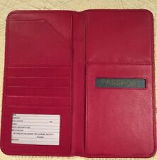 Red Soft Leather Passport Travel Wallet New