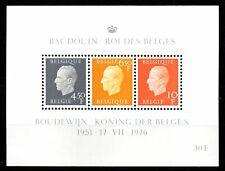 25 ans de Règne du Roi Baudouin - bloc 50 - en neuf - émis en 1976 .