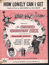 How Lonely Can I Get 1955 Second Greatest Sex Sheet Music