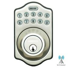 Lockstate Remotelock Wi-Fi Electronic Deadbolt Door Lock , Satin