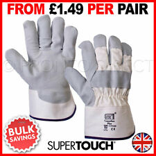12 Pairs Canadian Rigger Safety Work Gloves Leather Gauntlet Heavy Duty Tough
