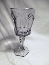 *NEW* 8 Vintage Fostoria CRYSTAL smoke GRAY purple water GOBLET glass VIRGINIA