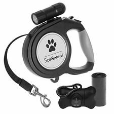 Extendable dog lead - 26 FT Retractable Dog Lead - Heavy Duty Lead