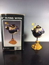 """👻 Halloween Collectible 6"""" Flying Witch On A Broomstick Figurine"""