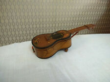 Old Wood Wooden Music Box Acoustic Guitar Shape