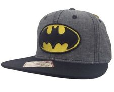 New Men's Batman DC Comics Dark Knight Snapback Hat Baseball Cap Heathered Gray