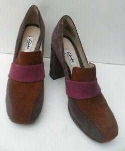 Clarks Gabriel Soho New Suede High Heel Shoes - Size UK 4.5, 5, 6