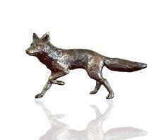 More details for country animal bronze miniature sculpture - fox running - butler & peach 2015