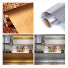 5m Vinyl Metallic Self Adhesive Wallpaper Kitchen Cupboard Cover Wall Paper