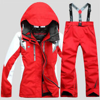 Women's Winter Ski Suits Jacket Pants Waterproof Coat Snowboard Skiing Snow Suit