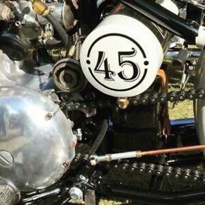 bobber chopper  oil tank numbers