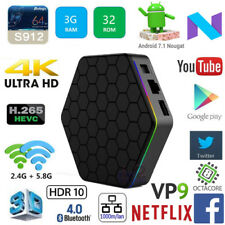 T95Z+ Amlogic S912 Octa Core 3G DDR4 32G Android 7.1 TV Box WiFi HDR10 HEVC VP9