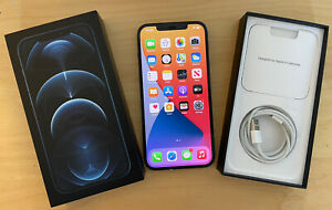 Apple iPhone 12 Pro Max - 128GB - Blue (Unlocked) 6 MONTHS APPLE WARRANTY
