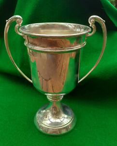 Large 7 inch Vintage Solid hallamrked SILVER TROPHY / CUP   Uninscribed VGC