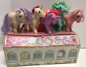 My Little Pony Vintage Lot Of 5 w/ CARRY CASE Hong Kong