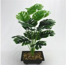 18 Heads Artificial Green Monstera Leaves Home Garden Decor Fake Tropical Plants