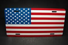 AMERICAN FLAG  METAL LICENSE PLATE TAG FOR CARS STARS AND STRIPES  USA FLAG