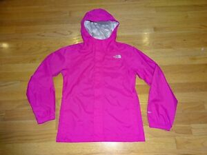Girl's The North Face HyVent Pink Hooded Jacket Size L (14-16)