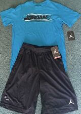 NWT Nike Boys YXL Lt Green//Black//Green JUST DO IT Dri-Fit Shorts Set XL