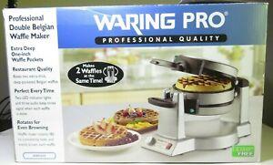 Waring Pro WMK600 Double Belgian Waffle Maker Restaurant Style Commercial Unit