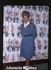 1965  kodachrome Photo slide    MS Gripsholm ship  stewardess Inger Borjeson