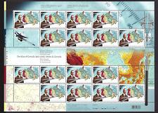 Canada  # 2160  Pane    ATLAS  CANADA CENTENARY     2006   New With Pristine Gum