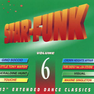 """V/A – Star-Funk Volume 6  New cd  Canada import.  12"""" Extended Dance Classics."""