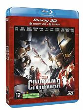 BLU RAY 3D + BLU RAY ** CAPTAIN AMERICA - CIVIL WAR **